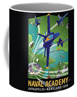 Blue Angels Over Usna Coffee Mug
