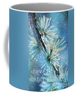 Blue Atlas Cedar Winter Holiday Card Coffee Mug