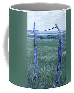 Blue Barbwire Coffee Mug