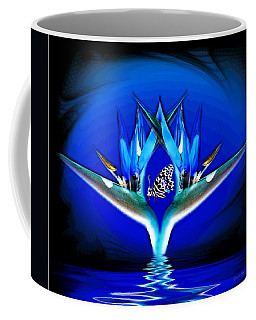 Coffee Mug featuring the photograph Blue Bird Of Paradise by Joyce Dickens