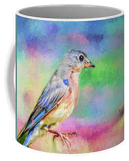 Blue Bird On Color Coffee Mug