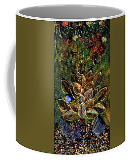 Blue Bird Singing In An Autumn Tree Coffee Mug by Donna Blackhall