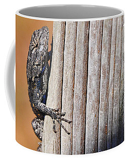 Coffee Mug featuring the photograph Blue Bits by Al Powell Photography USA