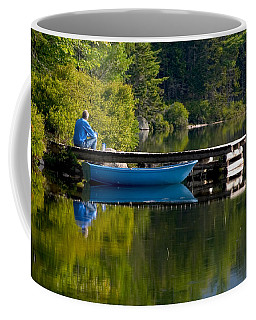 Blue Boat Coffee Mug by Brent L Ander