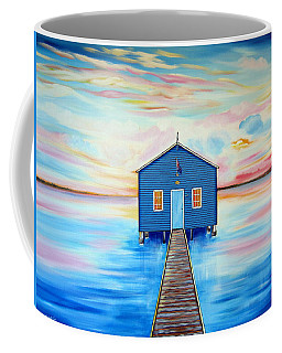 Blue Boat Shed By The Swan River Perth Coffee Mug