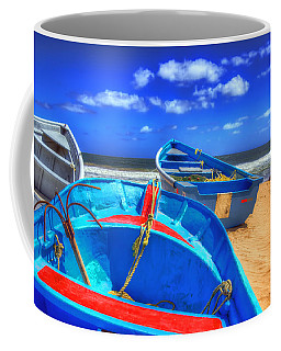 Blue Boats Coffee Mug
