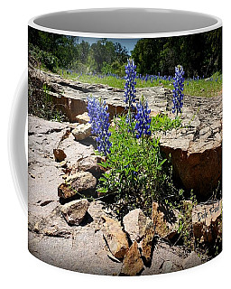 Blue Bonnets On The Rocks Coffee Mug