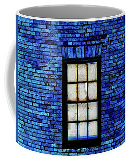Coffee Mug featuring the digital art Blue Brick by Robert Geary