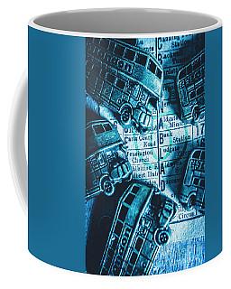 Blue Britain Bus Bill Coffee Mug