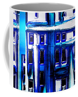 Blue Buildings Coffee Mug