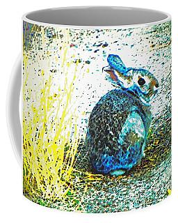 Blue Bunny Coffee Mug by Lenore Senior