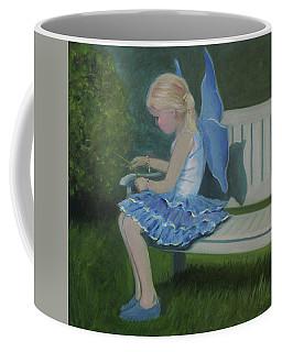 Blue Butterfly Girl Coffee Mug