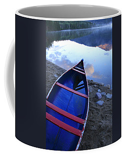 Blue Canoe Coffee Mug by Catherine Alfidi