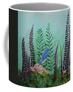Blue Chickadee Standing On A Rock 1 Coffee Mug
