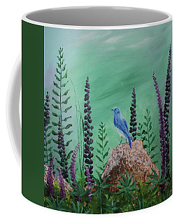 Blue Chickadee Standing On A Rock 2 Coffee Mug