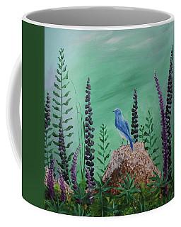 Blue Chickadee Standing On A Rock 2 Coffee Mug