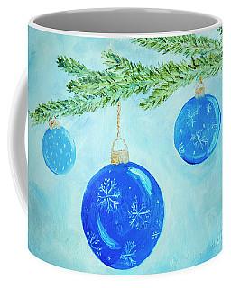 Blue Christmas Balls Coffee Mug