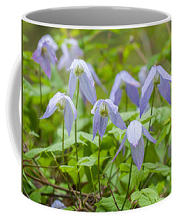 Coffee Mug featuring the photograph Blue Clematis by Fran Riley