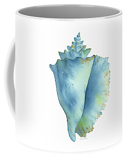 Blue Conch Shell Coffee Mug