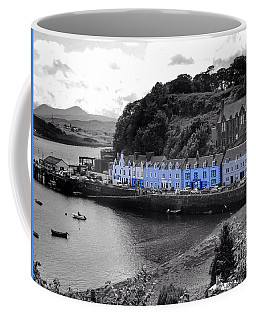 Blue Cottages At Portree Harbour 5 Coffee Mug
