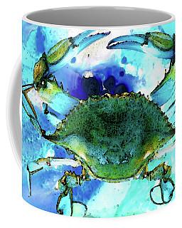 Blue Crab - Abstract Seafood Painting Coffee Mug