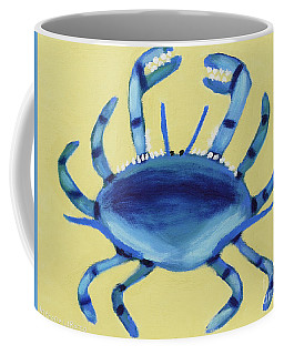 Coffee Mug featuring the painting Blue Crab by Anthony LaRocca