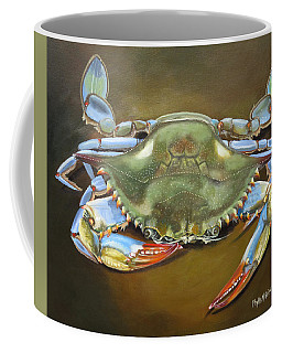 Coffee Mug featuring the painting Blue Crab by Phyllis Beiser