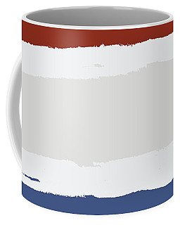 Blue Cream Red Stripes Coffee Mug