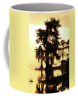 Blue Cypress Yellow Light Coffee Mug