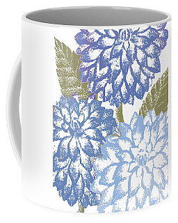Blue Dahlias Coffee Mug by Mindy Sommers