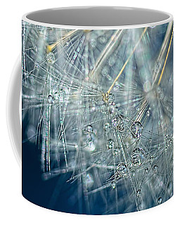 Blue Dandelion Dew By Kaye Menner Coffee Mug