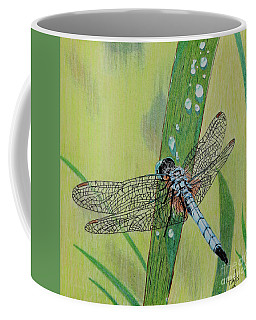 Blue Dasher Coffee Mug by Terri Mills