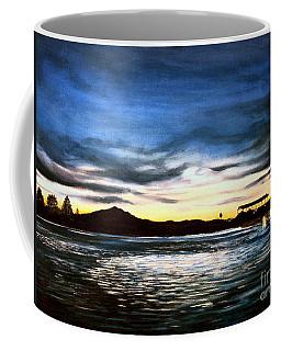 Coffee Mug featuring the painting Blue Diablo by Elizabeth Robinette Tyndall