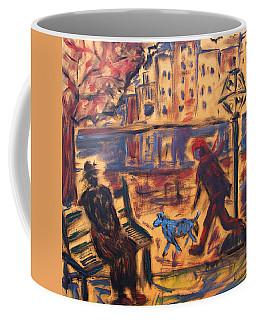 Blue Dog In The City Coffee Mug