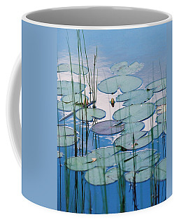Coffee Mug featuring the photograph Blue Dreams by Doris Potter