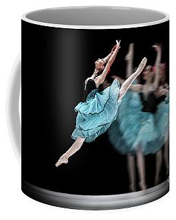 Coffee Mug featuring the photograph Blue Dress Dance by Dimitar Hristov