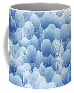 Coffee Mug featuring the photograph Blue Eggs - Abstract Background by Michal Boubin