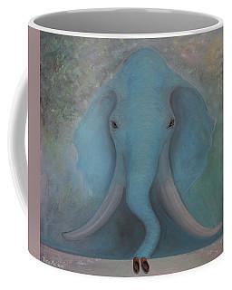 Blue Elephant Coffee Mug by Tone Aanderaa