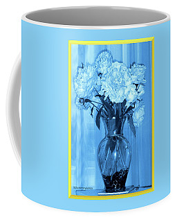 Coffee Mug featuring the photograph Blue by Elly Potamianos