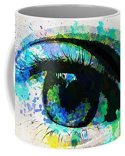 Blue Eye Watercolor Coffee Mug