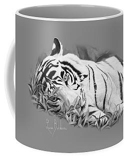 Blue Eyes - Black And White Coffee Mug