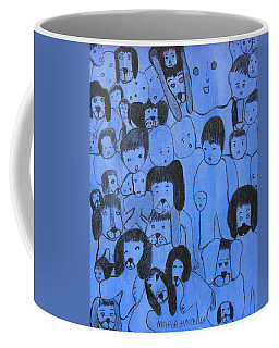 Blue Faces Coffee Mug