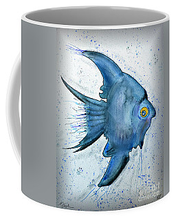 Coffee Mug featuring the photograph Blue Fish by Walt Foegelle
