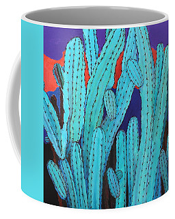 Blue Flame Cactus Acrylic Coffee Mug