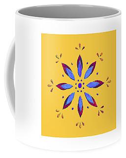 Coffee Mug featuring the mixed media Blue Flower by Elizabeth Lock