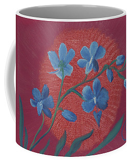 Blue Flower On Magenta Coffee Mug