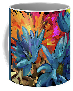 Blue Flowers 2 Coffee Mug
