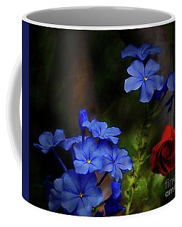 Blue Flowers Growing Up The Apple Tree Coffee Mug