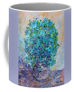 Blue Flowers Still Life Coffee Mug