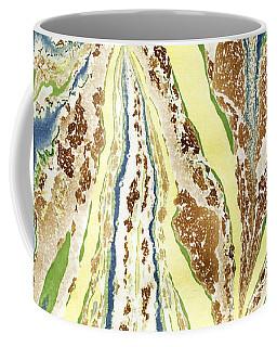 Blue Flowers In Spring Coffee Mug by Menega Sabidussi
